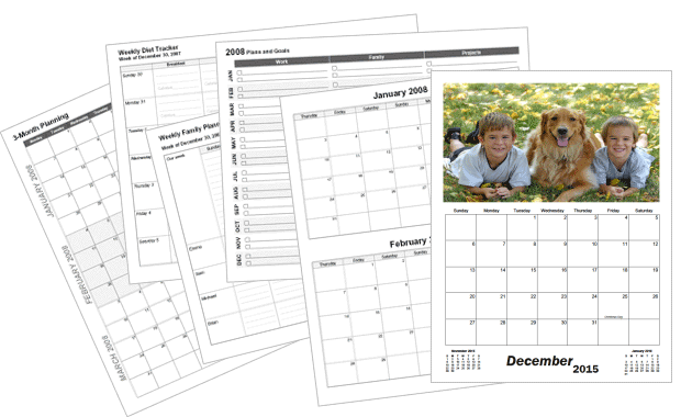 Printable calendar templates
